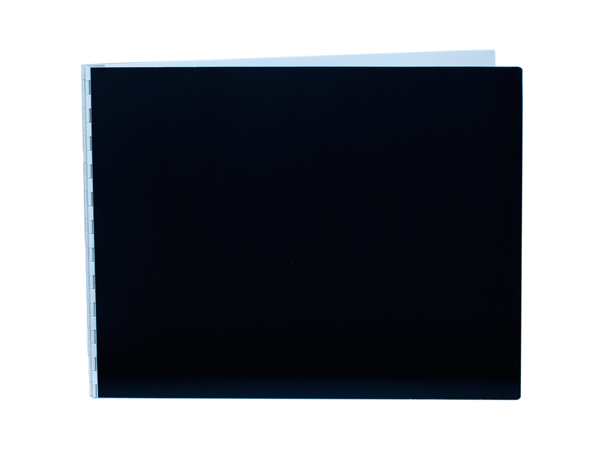 Handmade Double Thick Screwpost Portfolio Cover by Shrapnel Design » 11x14 Landscape » Black Anodized Aluminum