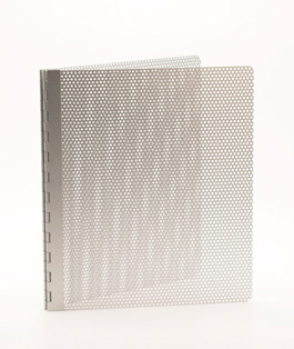 Handmade Perforated Screwpost Portfolio Cover by Shrapnel Design � 8.5x11 Portrait � Anodized Aluminum