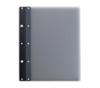 Ice Nine Light Screwpost Portfolio Cover by Case Envy » 11x14 Portrait » Grey Front and Back with Black Hinge