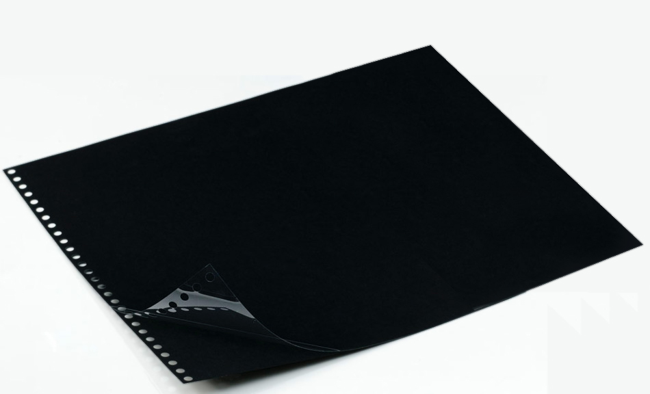 Polyester Sheet Protectors Portfolio Refill by Case Envy � 11x14 Landscape � Black Paper, Glossy Clear