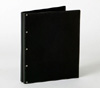 Looking Glass Screwpost Portfolio Cover by Lost Luggage » 11x11 Square » Black Leather with Black Hinge