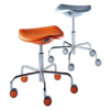 Welcome Rolling Stool of Adjustable Height with Gas Lift on Castors by Rexite » White (Chromium Buttons)