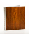 Handmade Wood Look Screwpost Portfolio Cover by Shrapnel Design » 8.5x11 Portrait » Teak